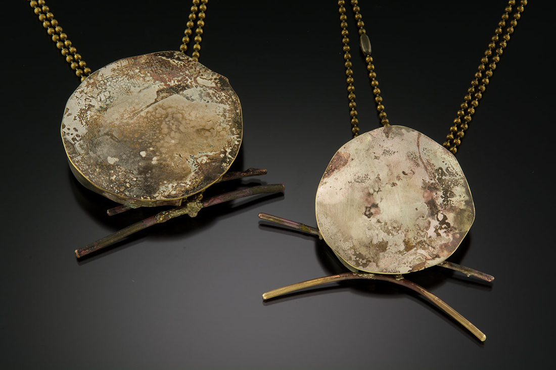 Large Toggle Marianne necklace, Roxy Lentz. Fierce, wabi-sabi.