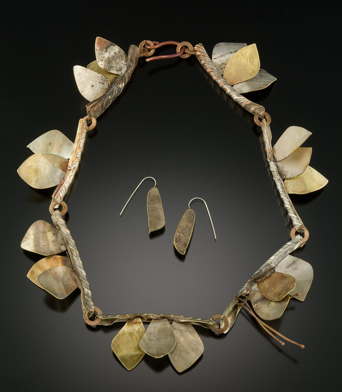 Roxy Lentz necklace of re purposed metal. Fierce, wabi-sabi.