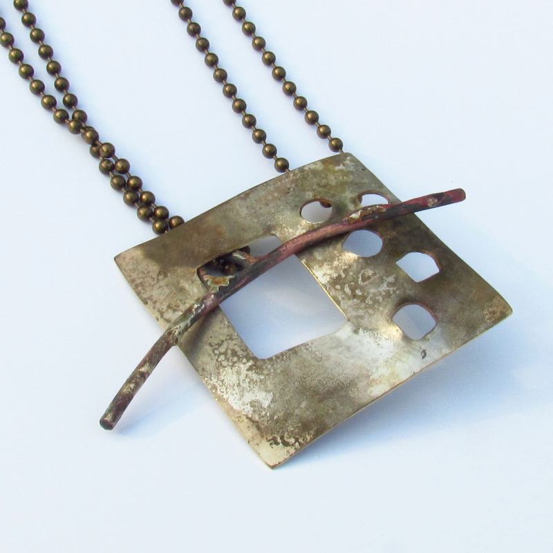Roxy Lentz, Repurposed metal, fire patina